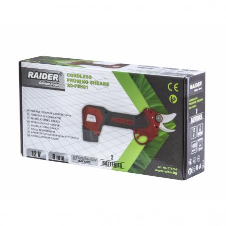Foarfeca de gradina RAIDER cu acumulator Li-ion 12V 2x2 Ah 1h RD-PSH01 [2]