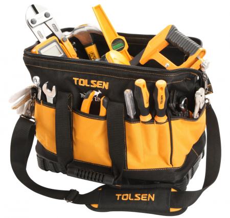 Geanta pentru unelte ROO Line Tolsen 80103, cu baza de plastic intarita [0]