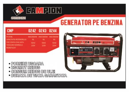 Generator de curent electric monofazat 2600W Campion [1]