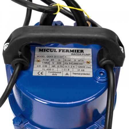 Pompa apa submersibila apa curata cu plutitor, 20m, 0,55kW Micul Fermier GF-0701 [3]