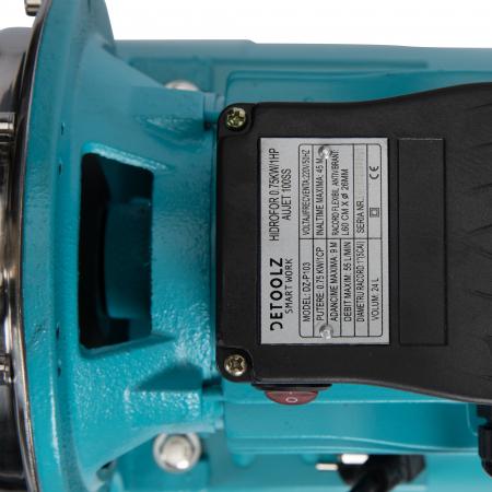 Hidrofor 0,75kW/1HP AUJET 100SS, bobinaj cupru Detoolz DZ-P103 [4]