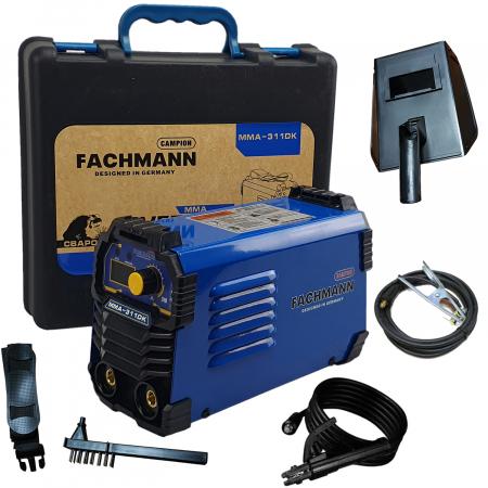 Aparat de sudura , invertor Fachmann 311DK , 310Ah, cablu sudura 3m, racire cooler (ventilator) 1.6mm-5.00 electrod [0]