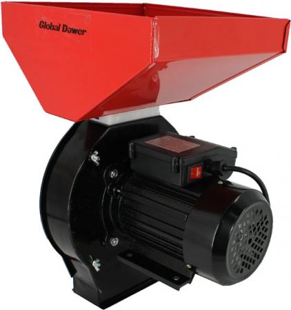 Moara electrica cuva mare pentru cereale,boabe si stiuleti (2 in 1), Global Dawer, 3500 W, 200 kg/h [1]
