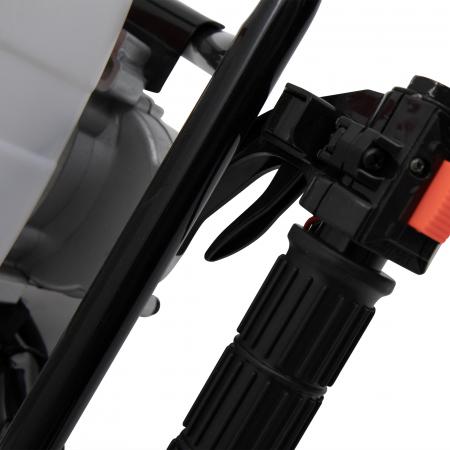 Pachet Motoburghiu pe benzina (foreza) pamant 6.0CP rosu TRIGO by CAMPION + Burghiu 200mm x 800mm [5]