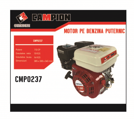 Motor pe benzina Campion CMP0237 7 Cp, 4 timpi, OHV, ax pana 20 mm [1]