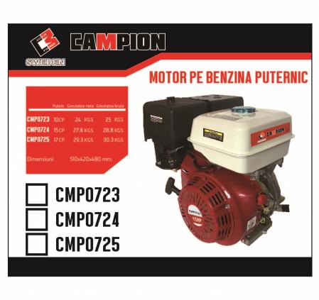 Motor pe benzina Campion CMP0725, 17 Cp, 4 timpi, OHV, ax pana 25 mm [4]
