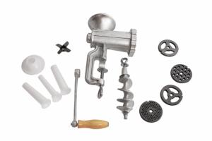 Masina de tocat carne nr.10 din fonta cu accesorii pt carnati JIA1