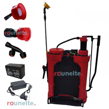 Pompa stropit acumulator, vermorel 16L, 2 in 1 ( electrica+manuala ), 12 V, Elefant [1]