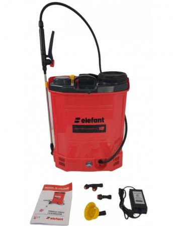 Pompa stropit electrica Elefant 18Litri, 5 Bar, reglaj presiune, vermorel cu baterie acumulator 12V [0]