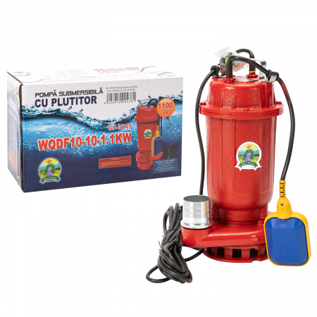 Pompa submersibila apa murdara cu plutitor, fonta, 1.1 Kw, 16m GF 0749 [3]