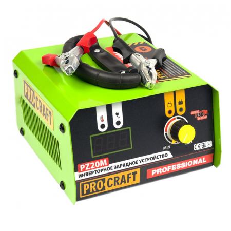 Redresor Auto Profesional Procraft PZ20, 20 A, 330 W, 12 V, port USB, ecran digital, protectie suprasarcina, indicator LED, invertor [0]