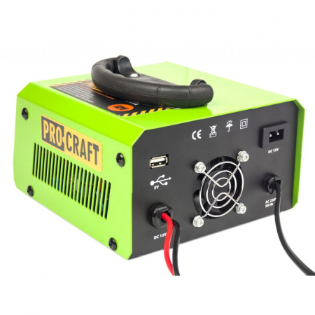 Redresor Auto Profesional Procraft PZ20, 20 A, 330 W, 12 V, port USB, ecran digital, protectie suprasarcina, indicator LED, invertor [1]
