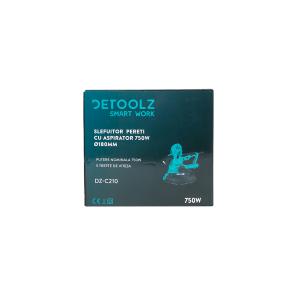Slefuitor pentru pereti cu aspirator, DeToolz DZ-C210, 750W, 180mm [2]