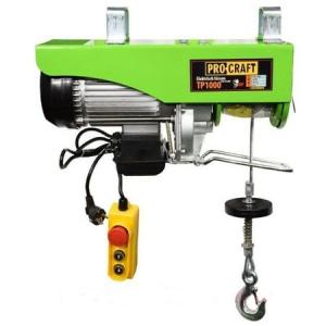 Macara electrica ProCraft TP1000 (palan electric, troliu),capacitate maxima de ridicare 1000kg,Putere 1600W0