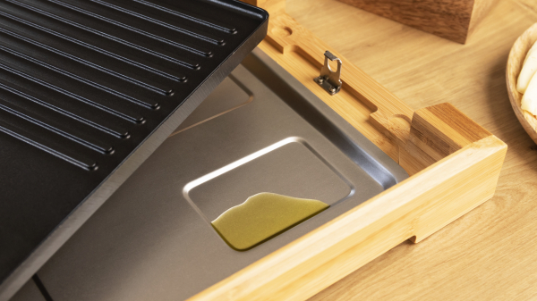 Gratar electric Cecotec Tasty&Grill 2000 Bamboo, 2000W, cadru din bambus, termostat reglabil 4