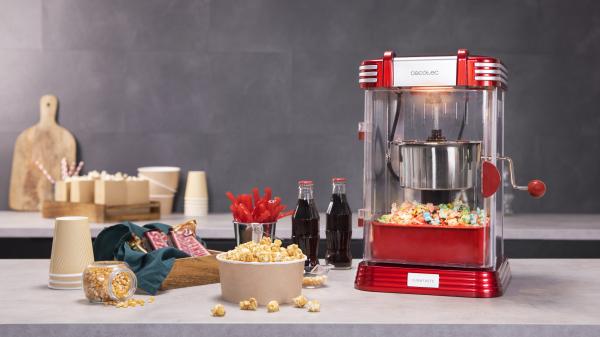 Aparat pentru popcorn, Cecotec Fun&Taste P´Corn Classic, 300W, inox, lumina interna [3]