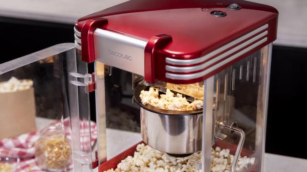 Aparat pentru popcorn, Cecotec Fun&Taste P´Corn Classic, 300W, inox, lumina interna [4]