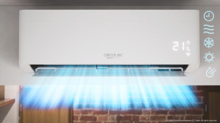 Aer conditionat Cecotec EnergySilence12000 AirClima Connected, 12000 BTU, Wifi, A++, 25 m2, Control dinTelefon, Incalzire, Dezumidificare, 5 moduri si 3 optiuni de operare cu 8 viteze [7]