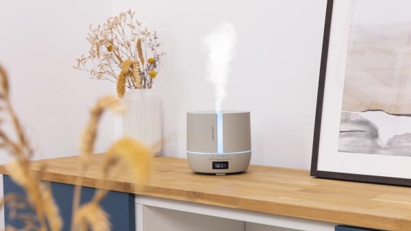 Difuzor aroma cu Ultrasunete Smart Cecotec PureAroma 550 Connected, control din Smartphone, 7 culori LED, boxa incorporata - Gri [2]