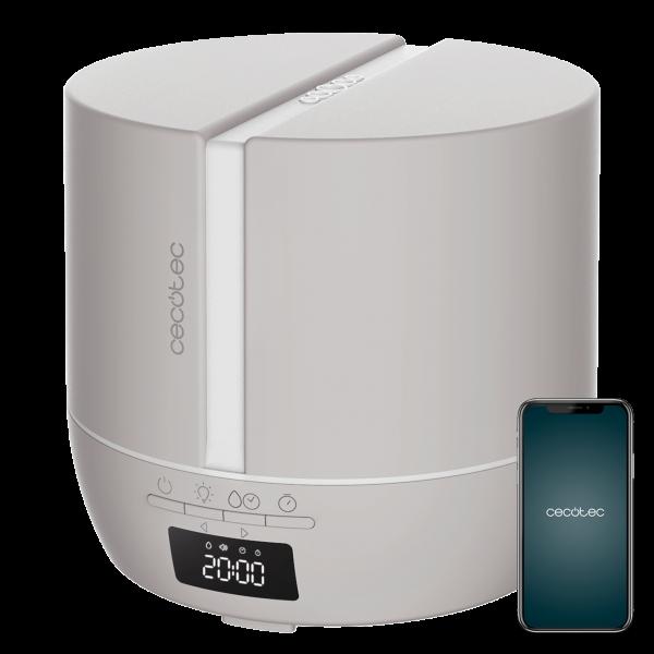 Difuzor aroma cu Ultrasunete Smart Cecotec PureAroma 550 Connected, control din Smartphone, 7 culori LED, boxa incorporata - Gri [0]