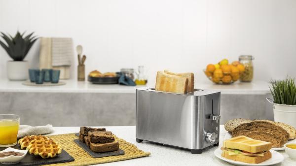 Prajitor de paine Cecotec YummyToast Double, 850 W, Inox, Indicator cu luminare LED [2]