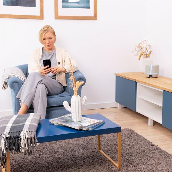 Difuzor aroma cu Ultrasunete Smart Cecotec PureAroma 550 Connected, control din Smartphone, 7 culori LED, boxa incorporata - Gri [5]