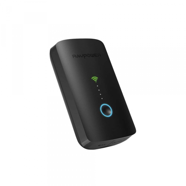 Router Wireless Portabil - Filehub RavPower RP-WD03, Cititor Carduri, Baterie Externa 6000mAh 0