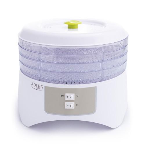 Deshidrator de alimente ADLER AD 6654, 400 W, 4 Tavi, 2 Trepte temperatura 0