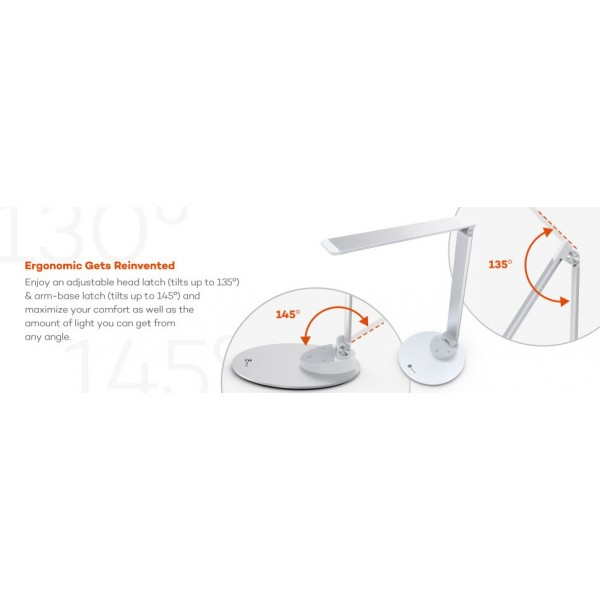 Lampa de birou LED TaoTronics TT-DL19 control Touch, 5 moduri, protectie ochi, USB [9]
