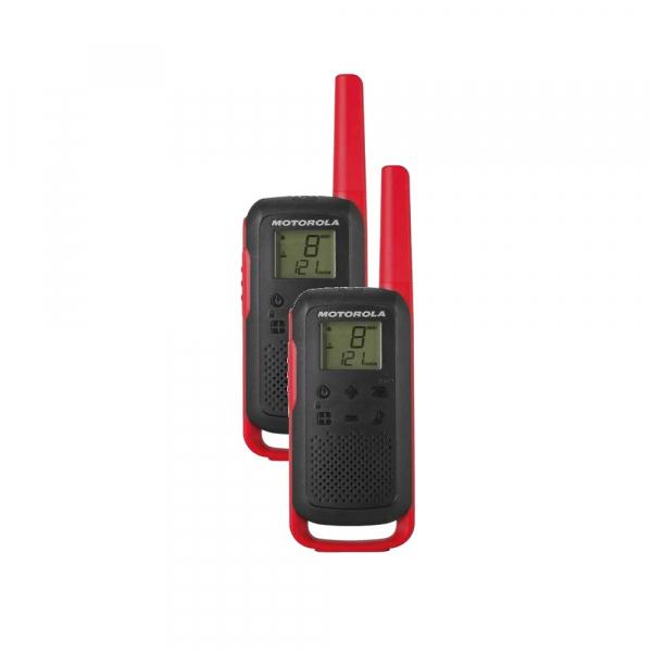 Statie radio PMR portabila Motorola TALKABOUT T62 RED, set cu 2 buc 0