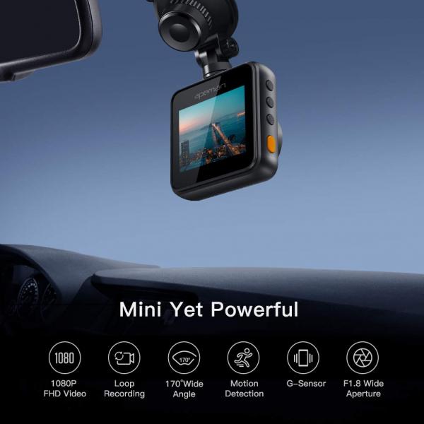 Camera auto DVR Apeman C420, Full HD, Unghi 170 grade G-Sensor, Mod parcare, Filmare in bucla 2