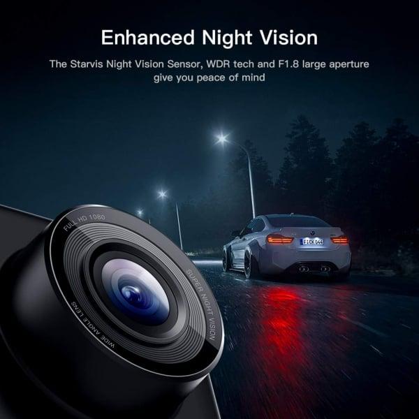 Camera auto DVR  Dubla Apeman C420D, Full HD,  Bord si Spate, Unghi 170 grade, Detector miscare, G-Sensor, Mod parcare, Filmare in bucla [4]