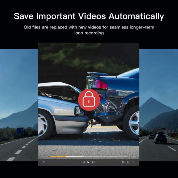 Camera auto DVR Apeman C420, Full HD, Unghi 170 grade G-Sensor, Mod parcare, Filmare in bucla 6