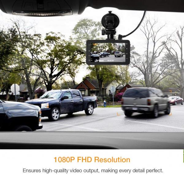 Camera auto DVR Apeman C450, Full HD, Unghi 170 grade, G-Sensor, Mod parcare, Filmare in bucla [2]