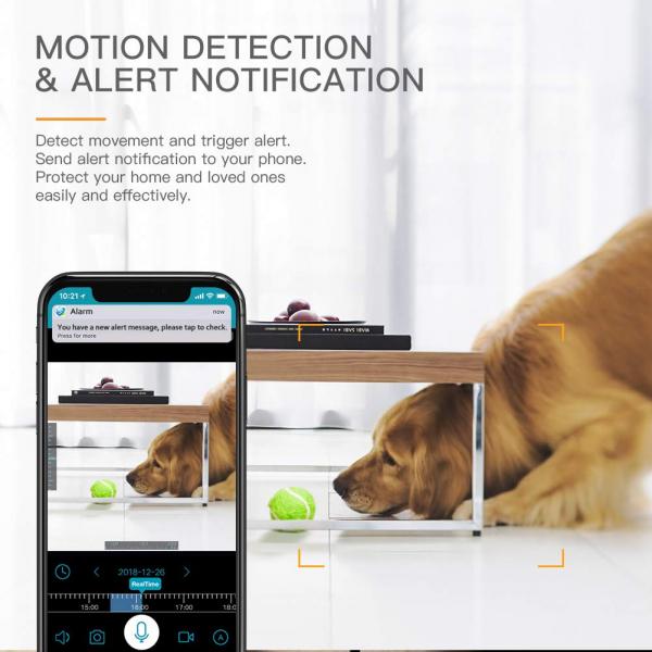 Camera supraveghere Wireless Apeman ID73, Full HD, Infrarosu, Alarma, Conectare Telefon 3