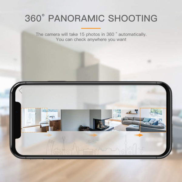 Camera supraveghere Wireless Apeman ID73, Full HD, Infrarosu, Alarma, Conectare Telefon 5