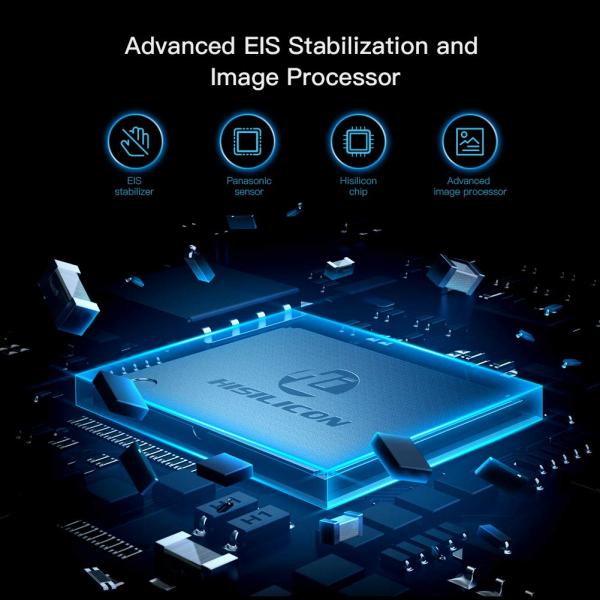 Camera video sport Apeman A100 TRAWO, 4K/50fps, Wi-Fi, Stabilizator imagine, waterproof 40m, 2-inch, 2 Acumulatori [2]