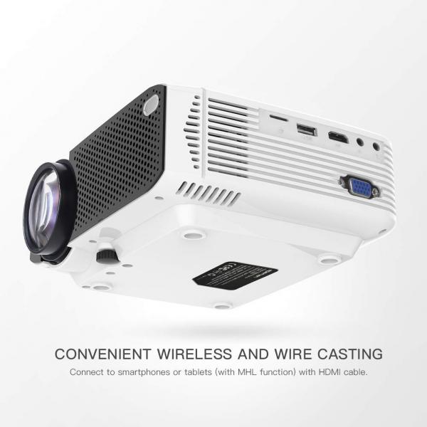 Videoproiector Apeman LC350, 3500 Lumeni, LED, HDMI, VGA, AV, USB, microSD 1