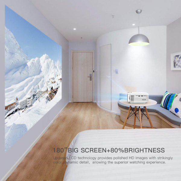 Videoproiector Apeman LC350, 3500 Lumeni, LED, HDMI, VGA, AV, USB, microSD 3