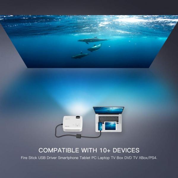 Videoproiector Apeman LC350, 3500 Lumeni, LED, HDMI, VGA, AV, USB, microSD 4