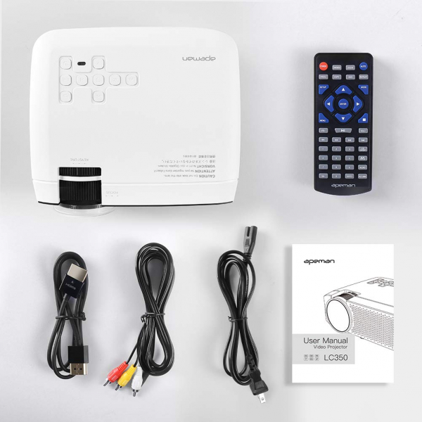 Videoproiector Apeman LC350, 3500 Lumeni, LED, HDMI, VGA, AV, USB, microSD 6
