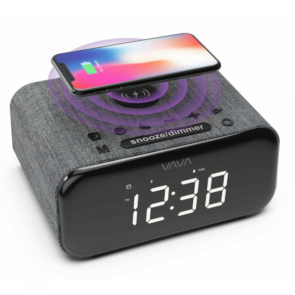 Ceas cu Radio FM VAVA 5 in 1, Boxa Bluetooth, Incarcator Wifi [1]