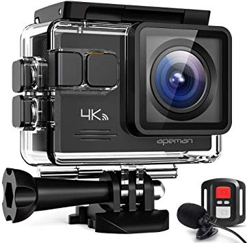 Camera video sport Apeman A79, 4K, Wi-Fi, HDMI, Accesorii incluse, waterproof 40m, 2-inch, 2 Acumulatori, Telecomanda 7