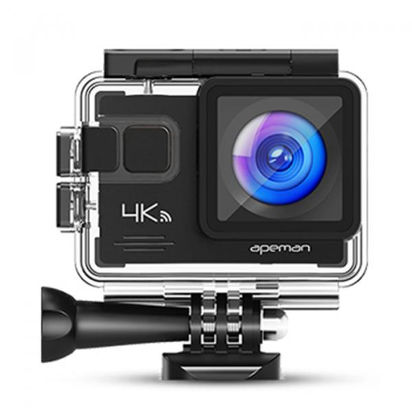 Camera video sport Apeman A79, 4K, Wi-Fi, HDMI, Accesorii incluse, waterproof 40m, 2-inch, 2 Acumulatori, Telecomanda 0
