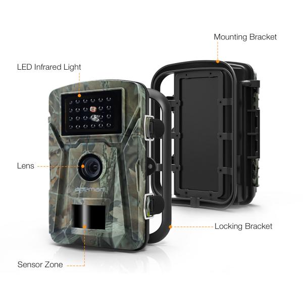 """Camera de vanatoare Apeman H45 senzor de miscare , 16 MP, full HD, 2.4"""" LCD , 940nm, night vision , 26 senzori infrarosu [3]"""