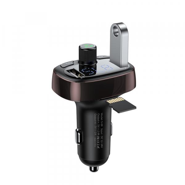 Modulator FM Baseus FM T-Type Bluetooth MP3 incarcator masina 0