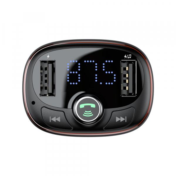 Modulator FM Baseus FM T-Type Bluetooth MP3 incarcator masina 5