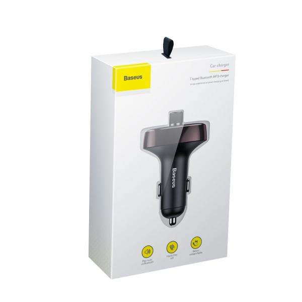 Modulator FM Baseus FM T-Type Bluetooth MP3 incarcator masina 6