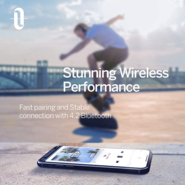 Casti audio TaoTronics TT-BH022, Noise canceling, functionare 45 ore, True Wireless, Sunet de Inalta calitate 4