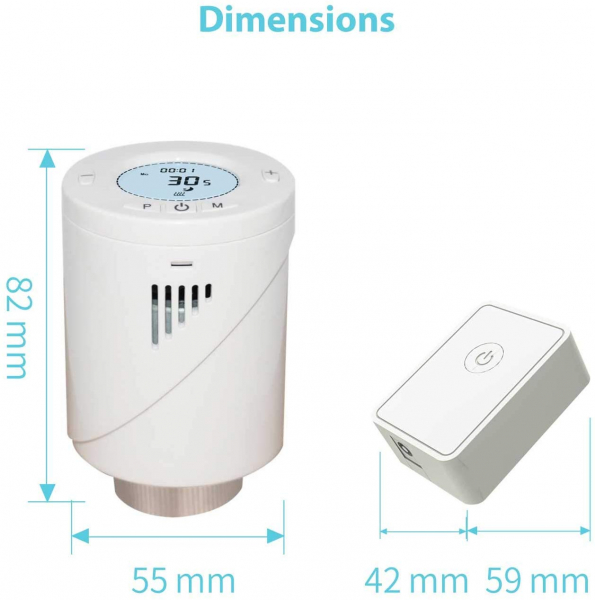 Kit Cap termostatic calorifer Meross MTS100H cu Hub, Smart, Alexa, Google Home, control smartphone 3